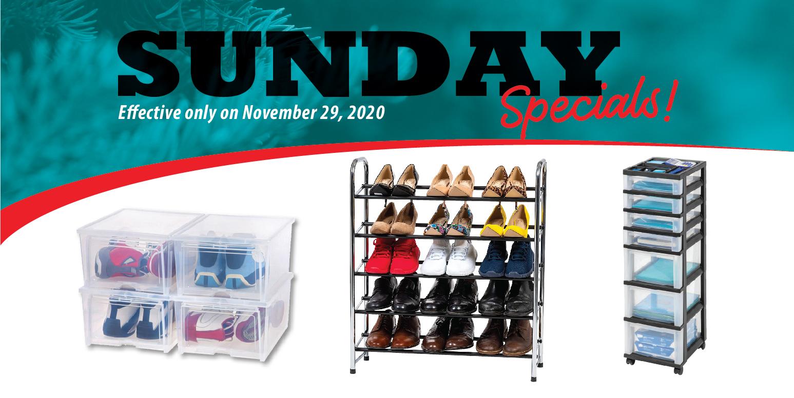 Simply Organized - Sunday Specials 11/29/20
