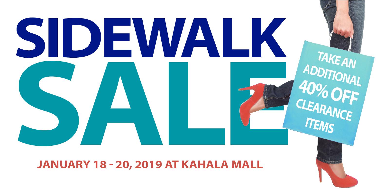 Sidewalk Sale Kahala Mall