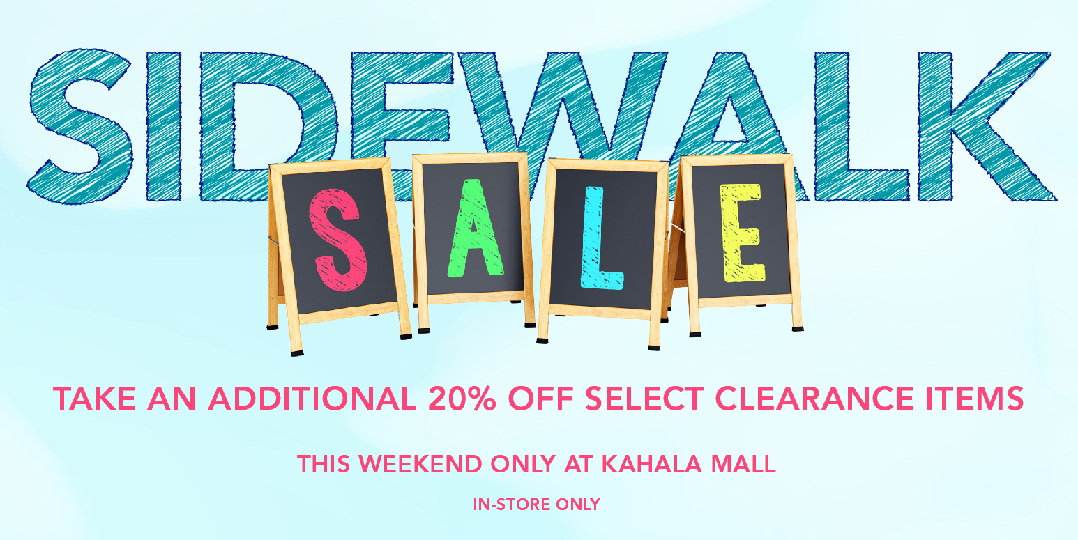 Simply Organized Kahala Mall Sidewalk Sale
