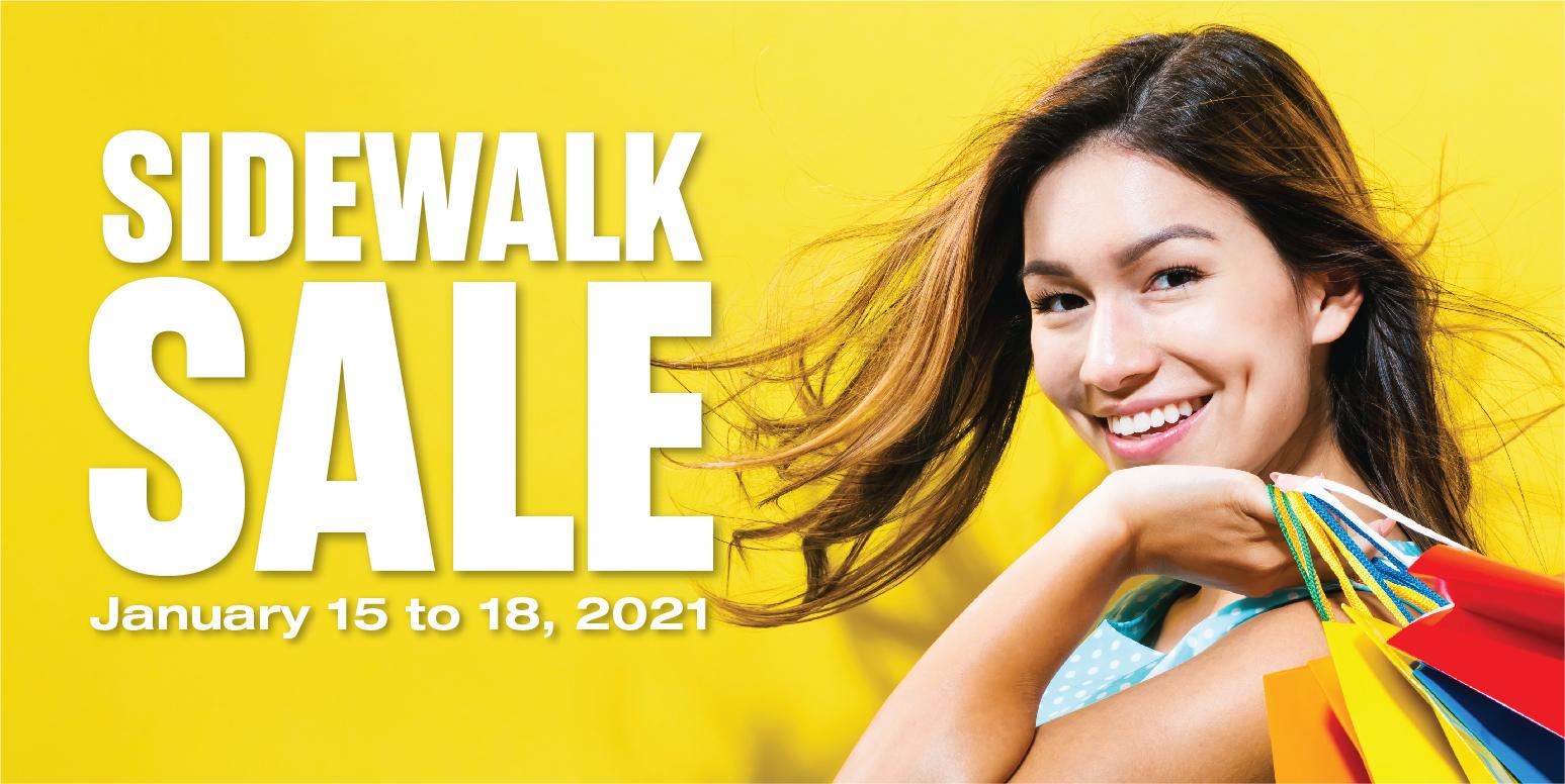4-Day Sidewalk Sale - January 15 to 18, 2021