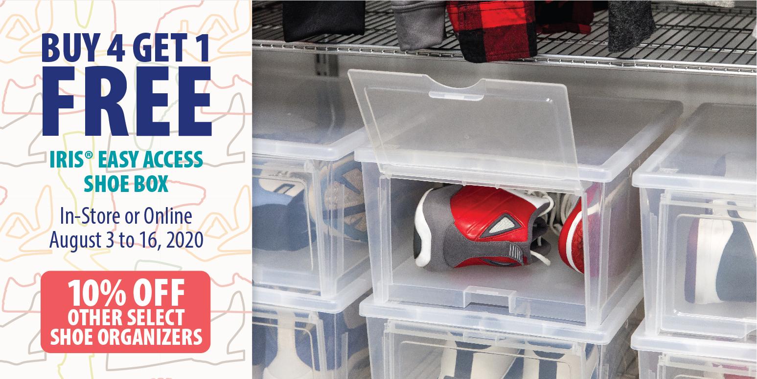 Simply Organized - Buy 4 Get 1 Free Shoe Box 8/3-8/16/20