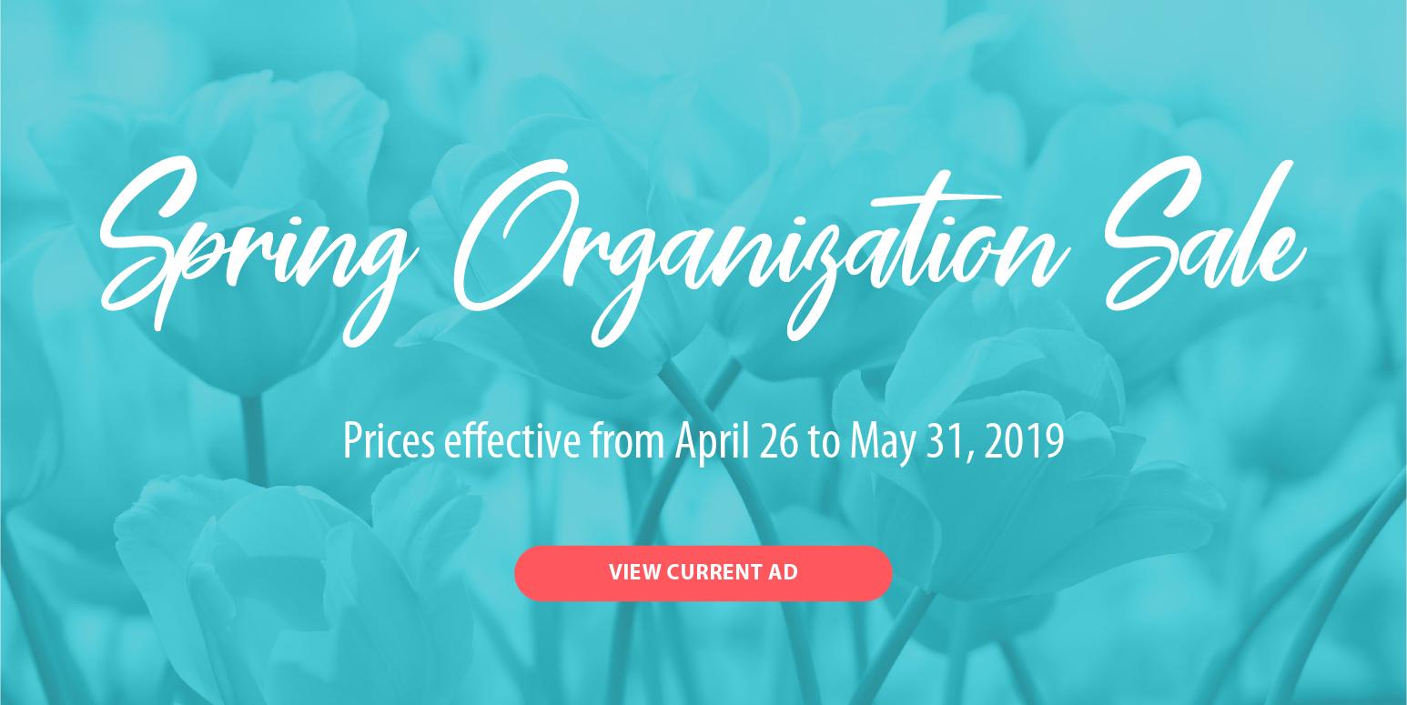 SImply Organized Spring Organization Sale