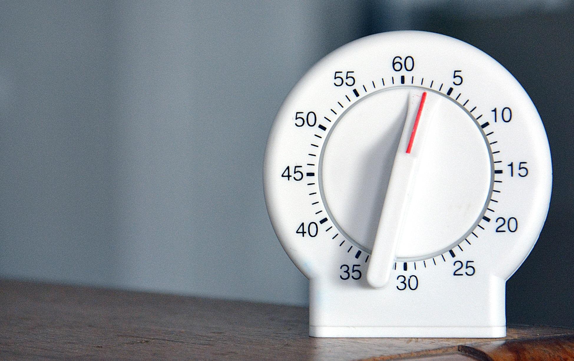 Organizing 101: Set A Timer